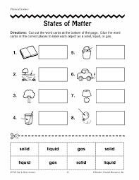 Small Picture States Of Matter Coloring Page Free Download