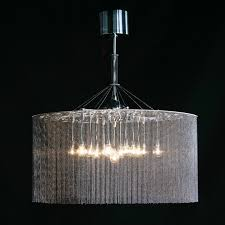 round shape stainless steel color modern chandelier hanging lamp for hotel decoration