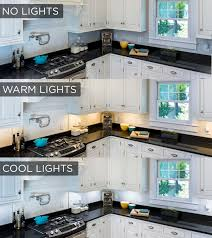 This Under Cabinet Lighting Comparison Shows The Stark Difference The Lights  Make In A Kitchen!