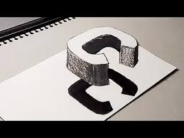 how to drawing 3d floating letter c 3d trick art for kids on paper anamorphic illusion