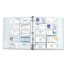Amazoncom C Line Business Card Holder Pages Poly Without Tabs