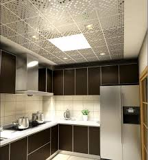 metal ceiling tiles contemporary kitchen design ideas black cabinets