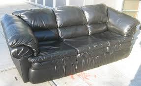 uhuru furniture  collectibles sold  black vinyl sofa
