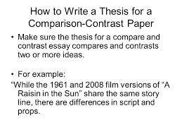 writing a compare contrast essay english and honors english composition notes thesis outline slideplayer how to write an outline for a · compare and contrast essay