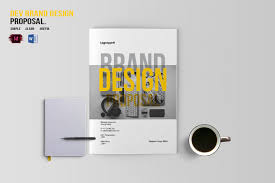 design proposal layout dev brand design proposal template by b design bundles