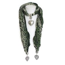 jewelry scarf with metal pendant uk