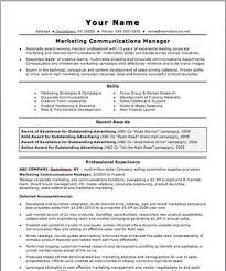 Communications Resume Sample Best of Communications Manager Resume Printable Resumes