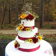 Wedding Cakes With Sunflowers And Roses Delicious Cake Recipe