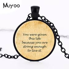 Quote Jewelry Stunning Inspirational Quote Pendant Necklace Fine Art Necklace Jewelry Quote