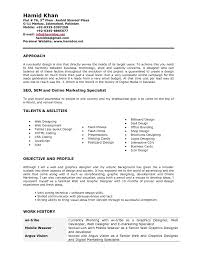 Resume Format For Graphic Designer Fresher Interior Sample