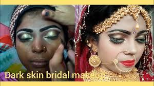 latest dark skin bridal makeup tutorial step by step in hindi