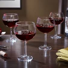 diamond monogram red wine glasses set of 4