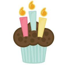 Candle Cupcake Clip Art Free Clip Art Download