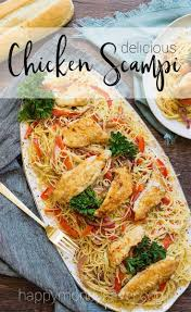 this en scampi recipe is to for angel hair pasta covered in a creamy