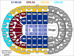 Quicken Loans Seating Chart Quicken Loans Arena Seating Chart With Seat Numbers Fresh