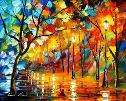 blue of the fire palette knife oil painting on canvas by leonid afremov size