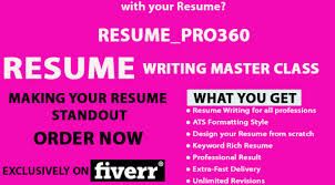 Resume Writing Fiverrbox