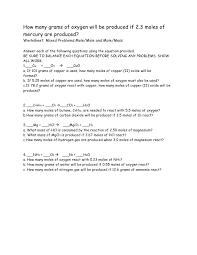 mass to mass stoichiometry worksheet worksheets for all