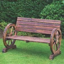 wagon wheel bench 2 seater 50 at b m