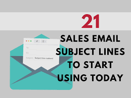 Sales Lines Best Subject Lines For Sales That You Need To Start Using