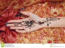 изображение Mehendi на руке ладони стоковое фото изображение