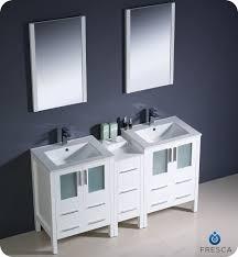 60 Fresca Torino FVN62 241224WH UNS Modern Double Sink Bathroom