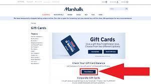 marshalls gift card balance giftcardstars