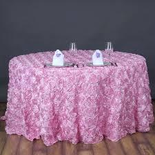 120 034 3d satin ribbon rosette round tablecloth
