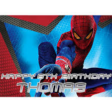 Spider Man Sweet Tops Personalised Edible Cake Toppers And