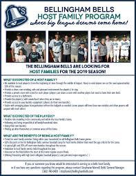 Further Discuss Bellingham Bells Host Family Information