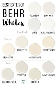best behr white paint colors for