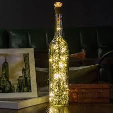 Decorative Bottle Lights Huafa Wine Bottle Lights Silver Bottle Rechargeable Usb Powered Decorative Lights For Party Home Decor Christmas Halloween Wedding Bars Warm