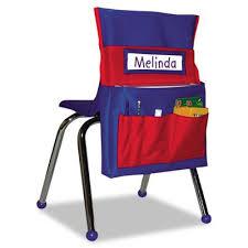 Carson Dellosa Deluxe Scheduling Pocket Chart Carson Dellosa Publishing Cd158035 Chairback Buddy Pocket Chart 12 X 22 1 2 Blue Red