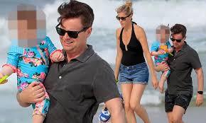 Declan Donnelly and Ali Astall enjoy beach walk with baby Isla ...