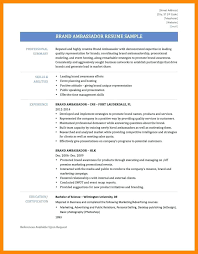 How To How To Make A Brand Ambassador Resume Resume Letter