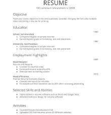 Simple Sample Resume Resume Sample Simple Resume Sample Simple Format Essexpga Com