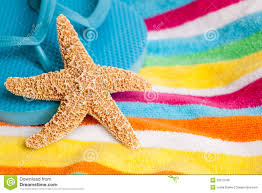 beach towels on the beach. Starfish And Flip Flops On A Beach Towel Towels The R