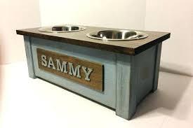 dog dish stand dog bowl stand personalized dog bowl stand dog dish stand wood dog bowl