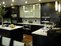 bored restaining kitchen cabinetselegant cabinets black kitchen design with dark cabinets the addition of brushed metal doors
