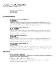 Resume Template For A Student
