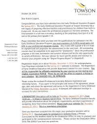 kleppe eced program acceptance letter back to acceptance letters