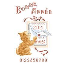 Grille « Bonne année » - Les Brodeuses Parisiennes