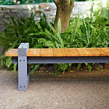 garden bench diy plans. enjoy the view from this diy garden bench. clean lines and a low profile allow bench diy plans d