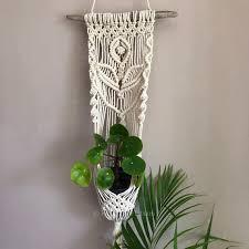 macrame wall planter hanging indoor