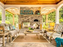 indoor outdoor fireplace porch traditional with beach theme indoor outdoor living
