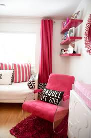 modern hot pink and white girl s nursery