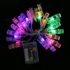 christmas rope lighting. 20 LEDs Photo Clip String Lights 2.2m Battery Flashing Rope Wedding Party Christmas Decoration Lighting C