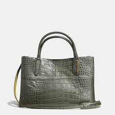 ... coach official site official pagethe soft borough bag in croc embossed  leather