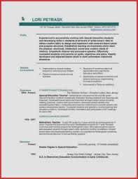 Early Childhood Education Resume Objective Best Of Teaching Resume Objective Elegant Sales Resume Sales Resumes Writing