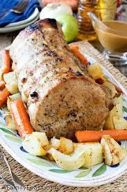 juicy roasted pork loin a family feast